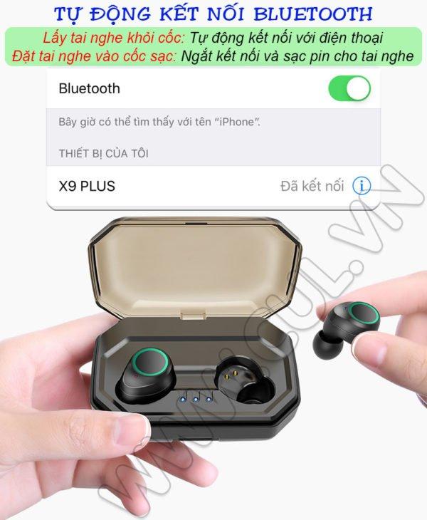 Tai Nghe Bluetooth Asonic X9 Plus - Tự Động kết Nối
